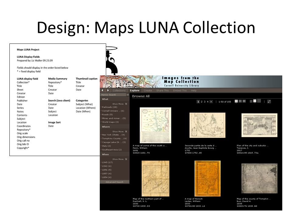 Design: Maps LUNA Collection