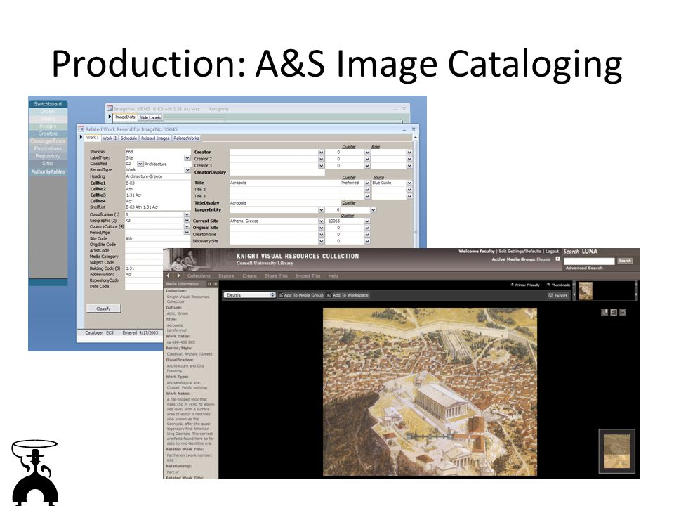 Production: A&S Image Cataloging