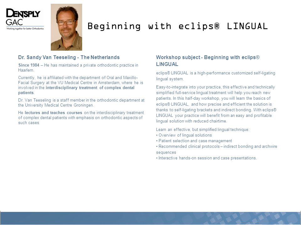 Beginning with eclips® LINGUAL Dr.