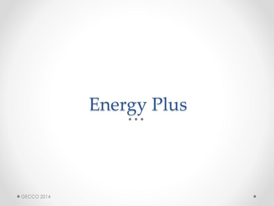 Energy Plus GECCO 2014