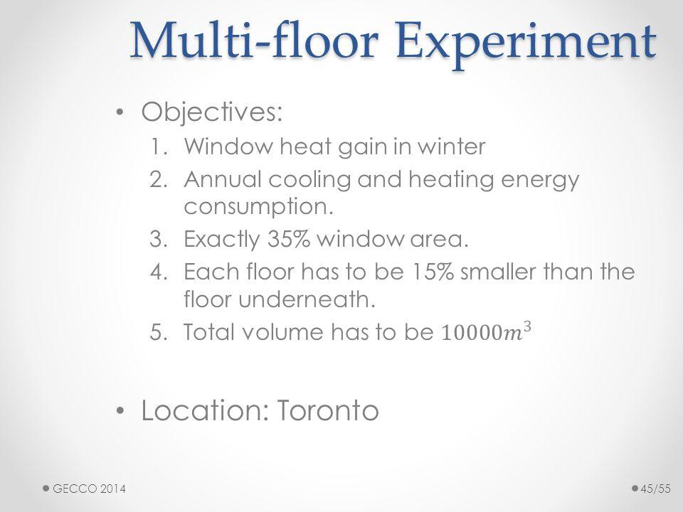 Multi-floor Experiment GECCO 201445/55