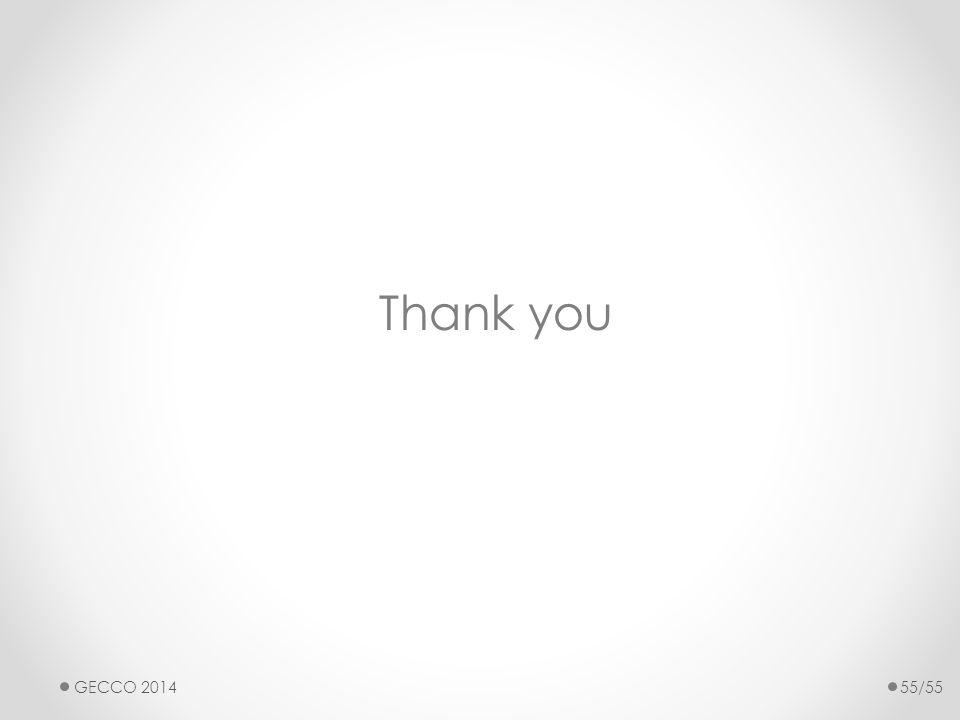 Thank you GECCO 201455/55