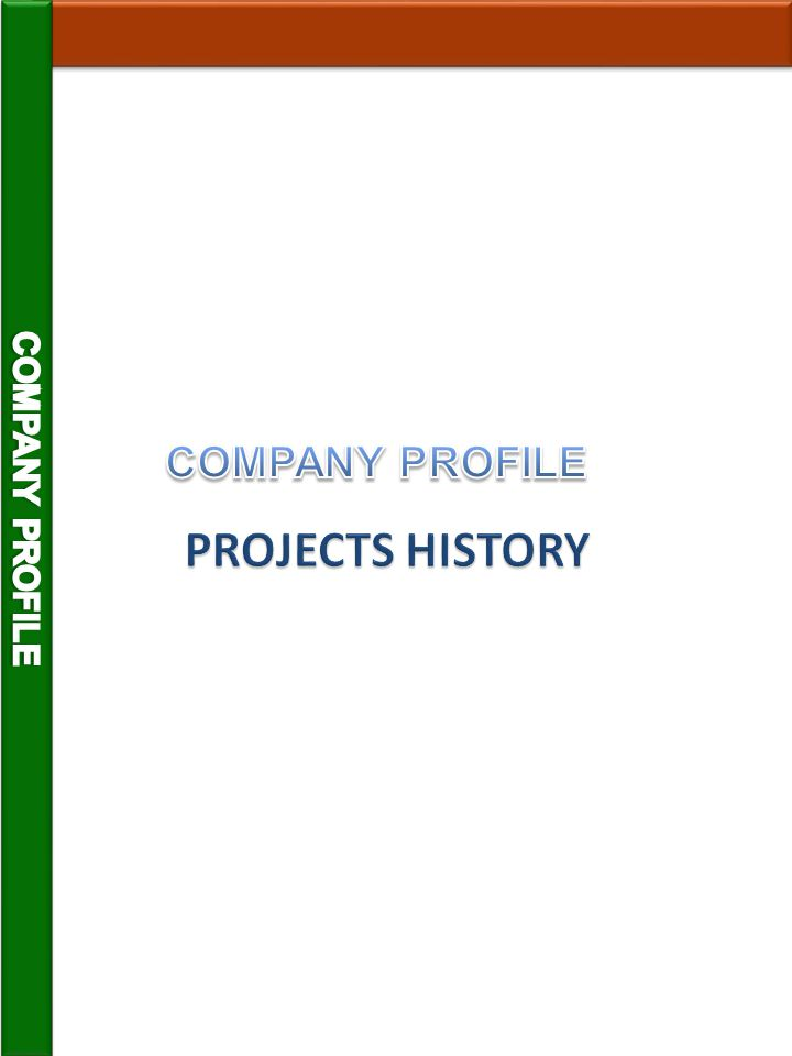 MAIN PROJECTS EXECUTED 1976-2012