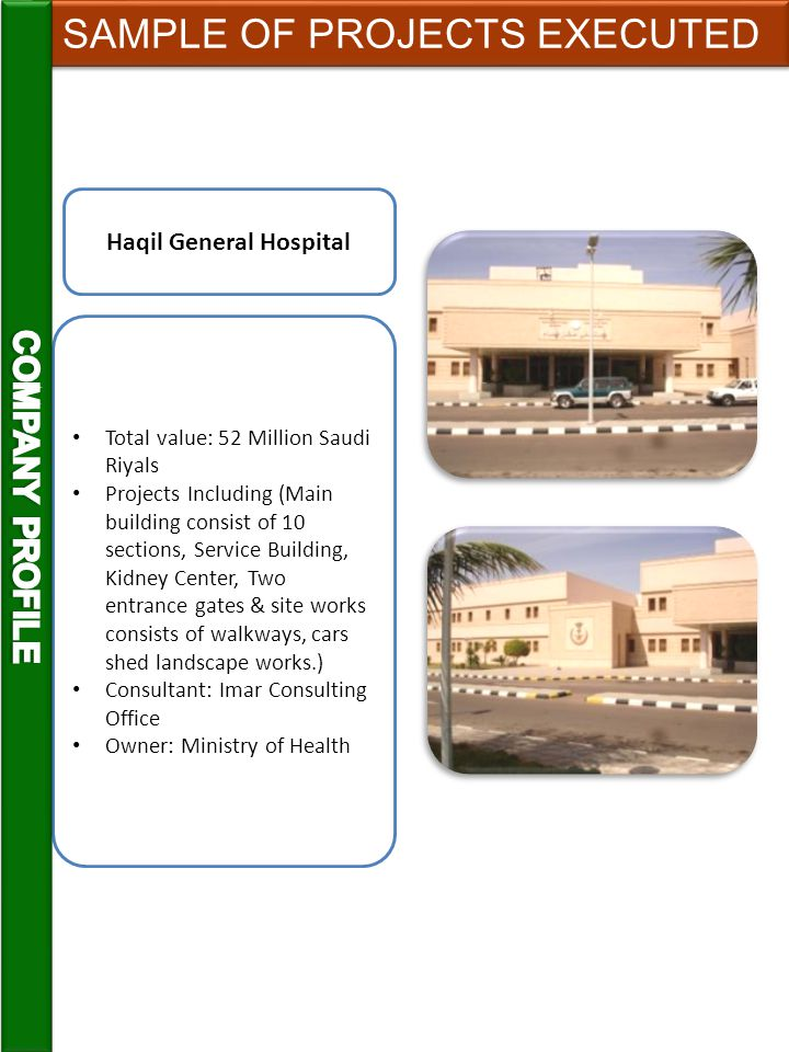 Total value: 12 Million Saudi Riyals Projects Including Four Floors 1060M2, Centralized Air Conditioning System, Two Elevators, Water Tank.