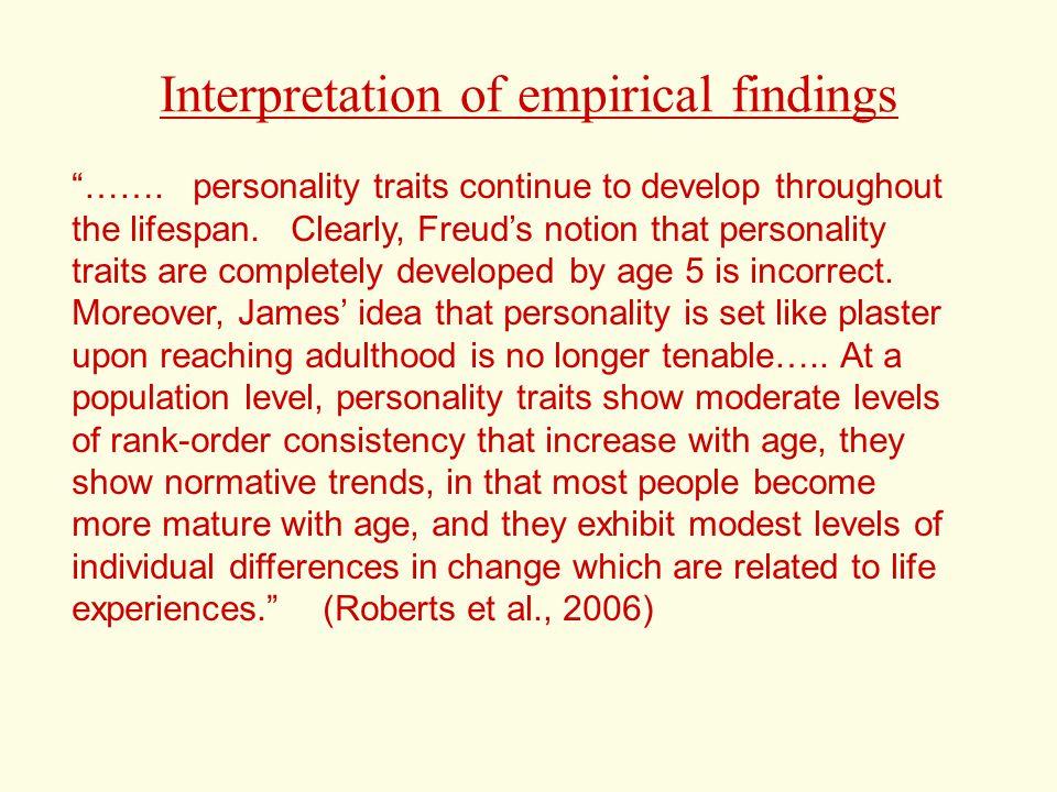 Interpretation of empirical findings …….