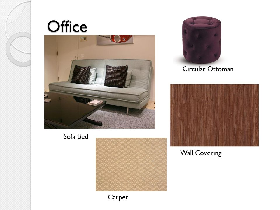 Office Circular Ottoman Wall Covering Sofa Bed Carpet