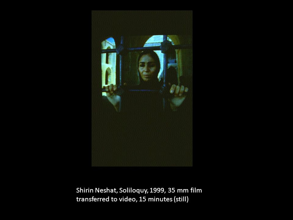 Shirin Neshat, Soliloquy, 1999, 35 mm film transferred to video, 15 minutes (still)