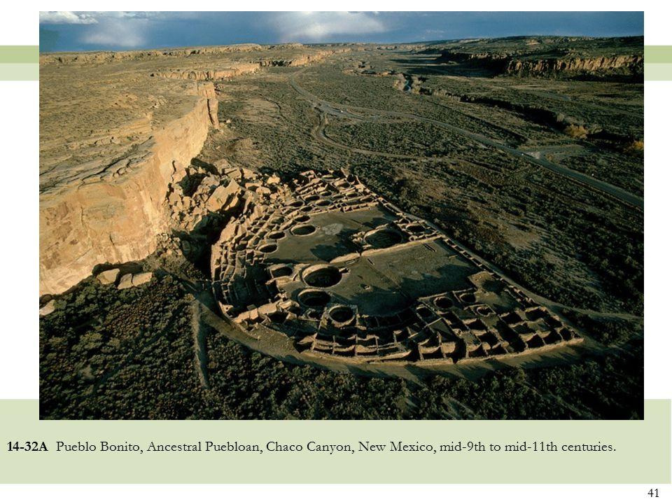14-32A Pueblo Bonito, Ancestral Puebloan, Chaco Canyon, New Mexico, mid-9th to mid-11th centuries. 41