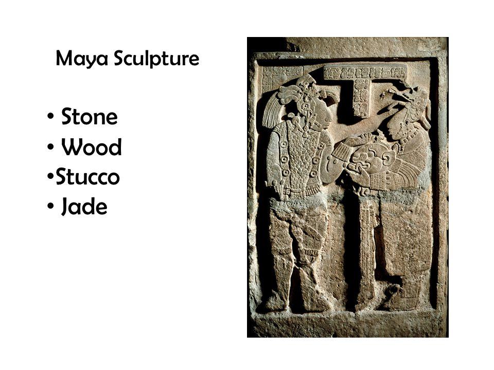 Maya Sculpture Stone Wood Stucco Jade