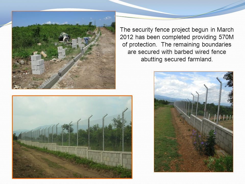 The security fence project begun in March 2012 has been completed providing 570M of protection.