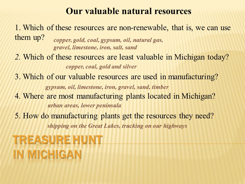 Our valuable natural resources 1.
