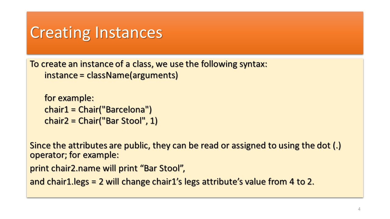Inheritance and Polymorphism for item in items: if isinstance(item, Item): print item.title() for item in items: if hasattr(item, title ): print item.title() for item in items: if hasattr(item, title ) and callable(item.title): print item.title() for item in items: if isinstance(item, Item): print item.title() for item in items: if hasattr(item, title ): print item.title() for item in items: if hasattr(item, title ) and callable(item.title): print item.title() 35