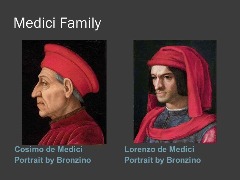 Medici Family Cosimo de Medici Portrait by Bronzino Lorenzo de Medici Portrait by Bronzino