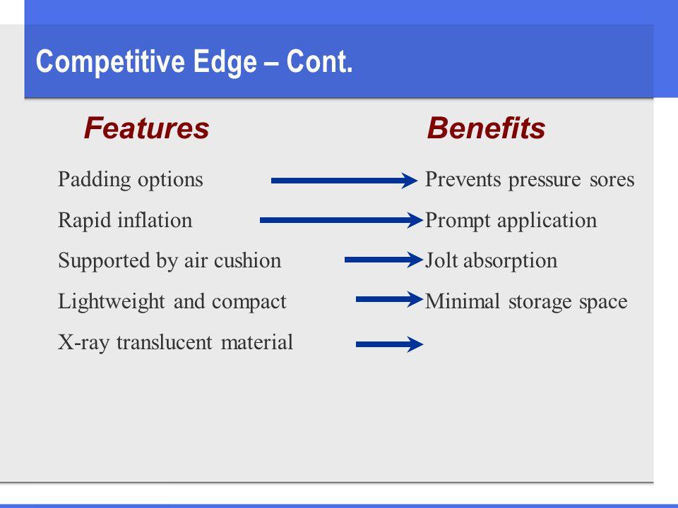 Competitive Edge – Cont.