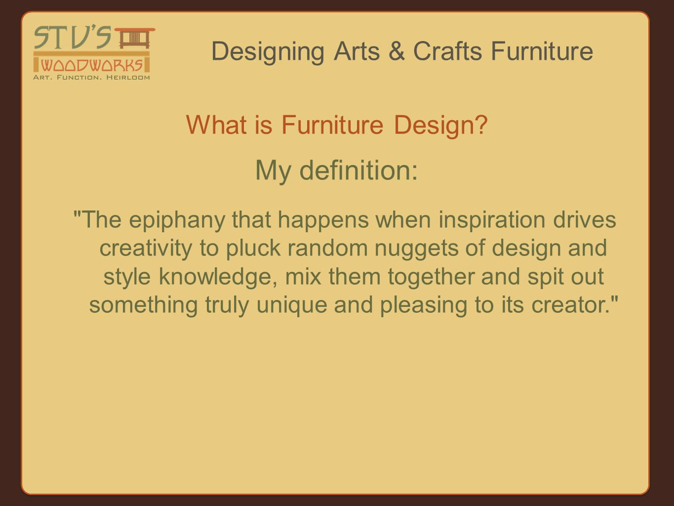 What is Furniture Design.