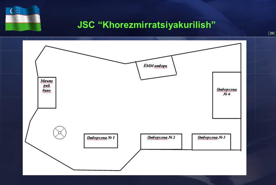 [39] JSC Khorezmirratsiyakurilish