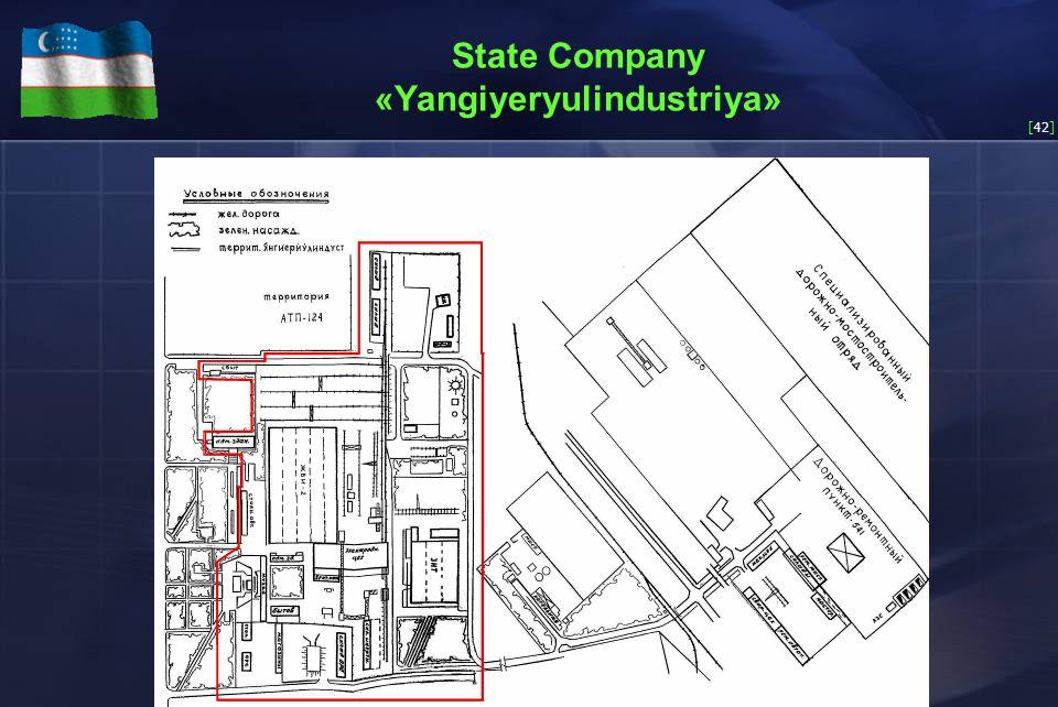 [42] State Company «Yangiyeryulindustriya»