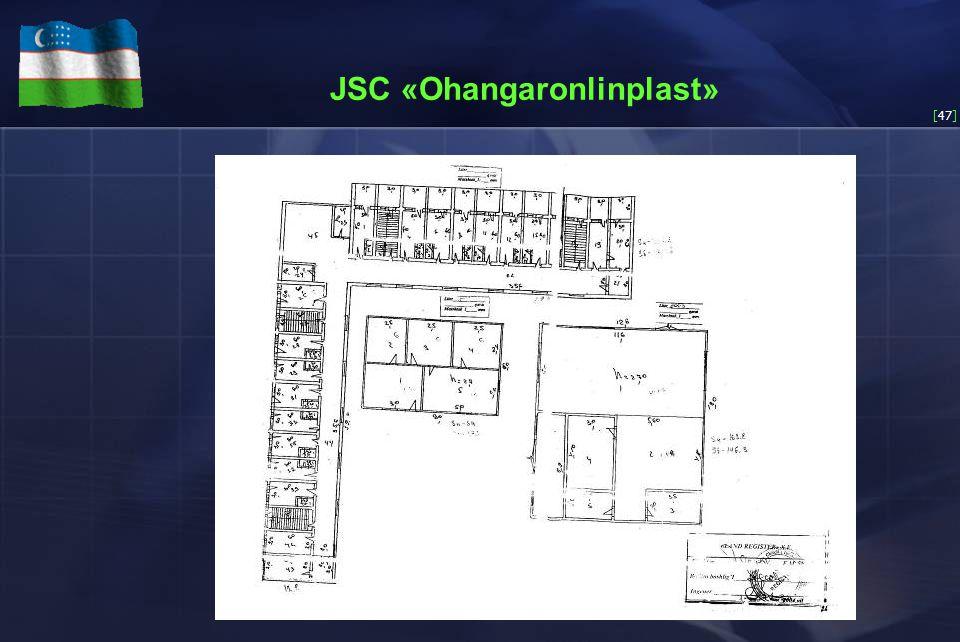 [47] JSC «Ohangaronlinplast»