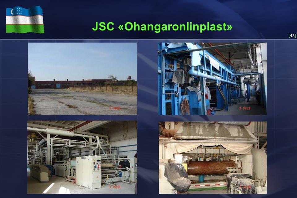 [48] JSC «Ohangaronlinplast»
