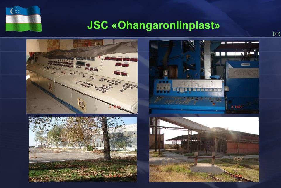 [49] JSC «Ohangaronlinplast»