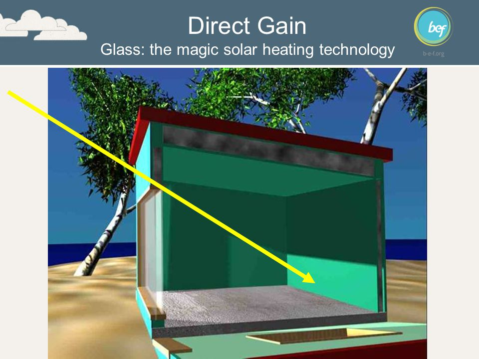 Direct Gain Glass: the magic solar heating technology