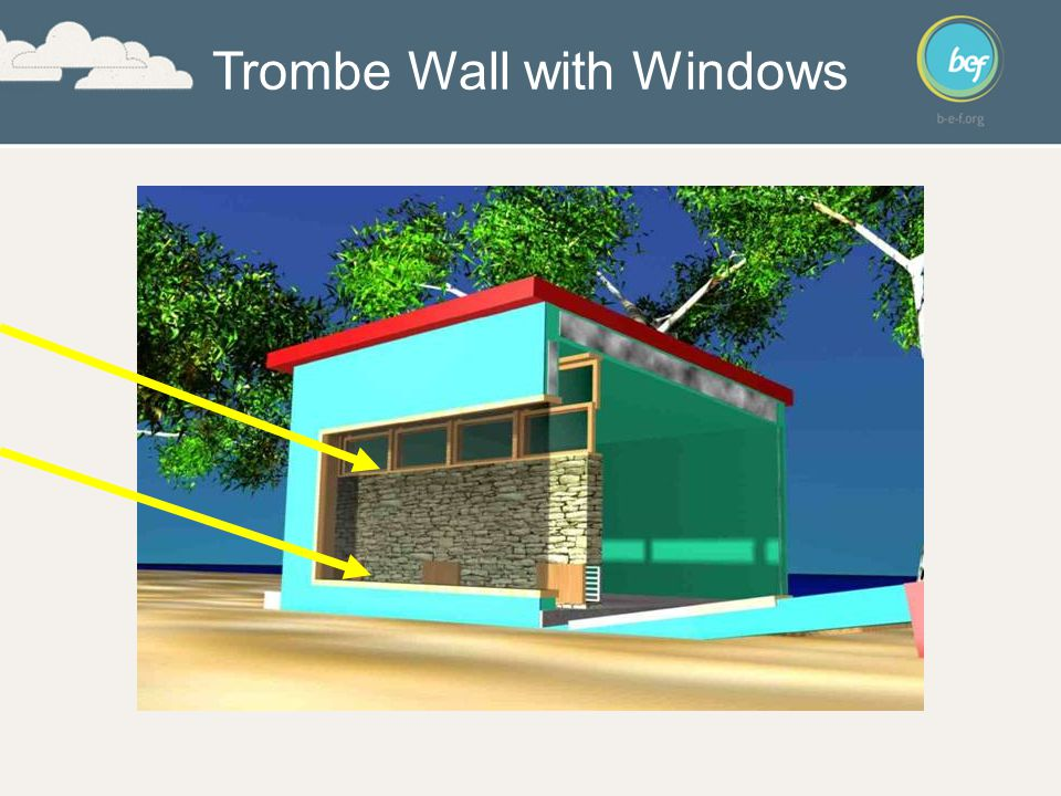 Trombe Wall with Windows