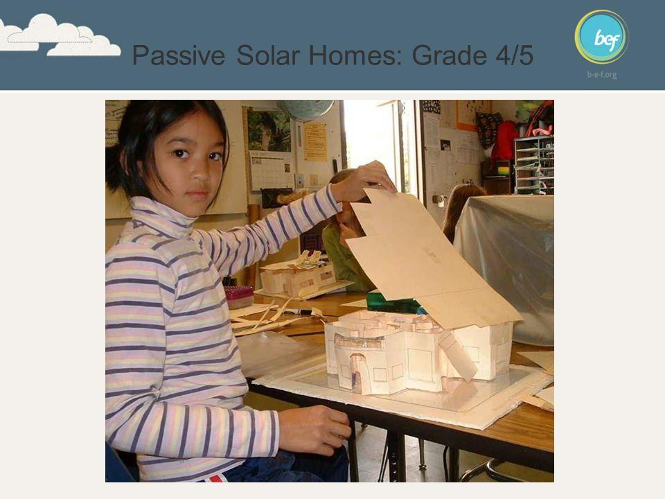 Passive Solar Homes: Grade 4/5