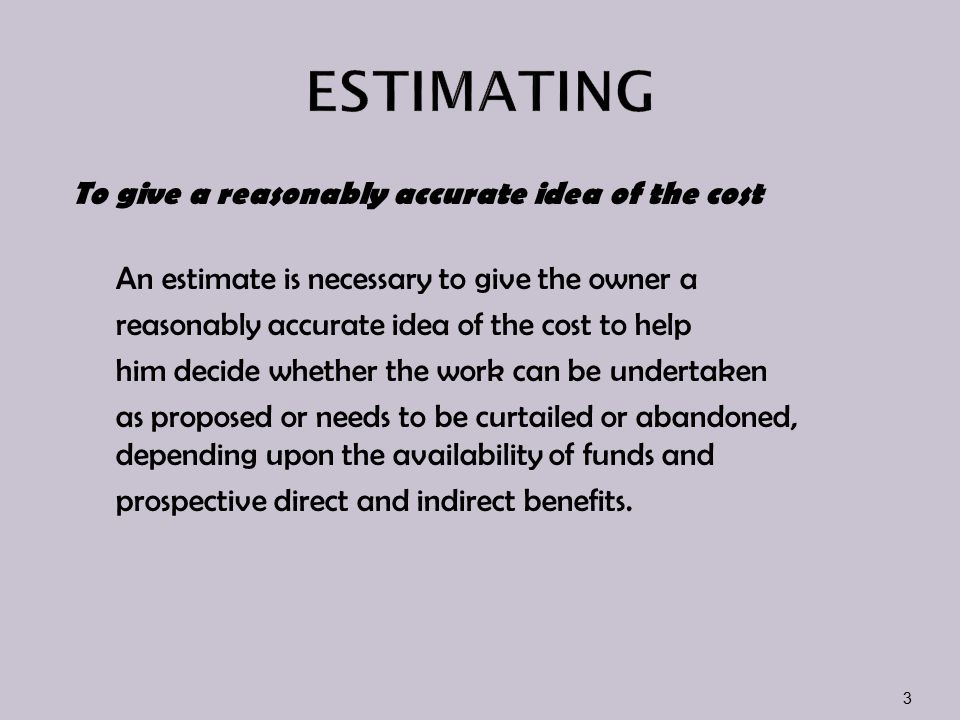 Item's cost is divided into: i)material cost ii)Labour cost iii)plant and equipment costs iv)overhead cost and profit 14