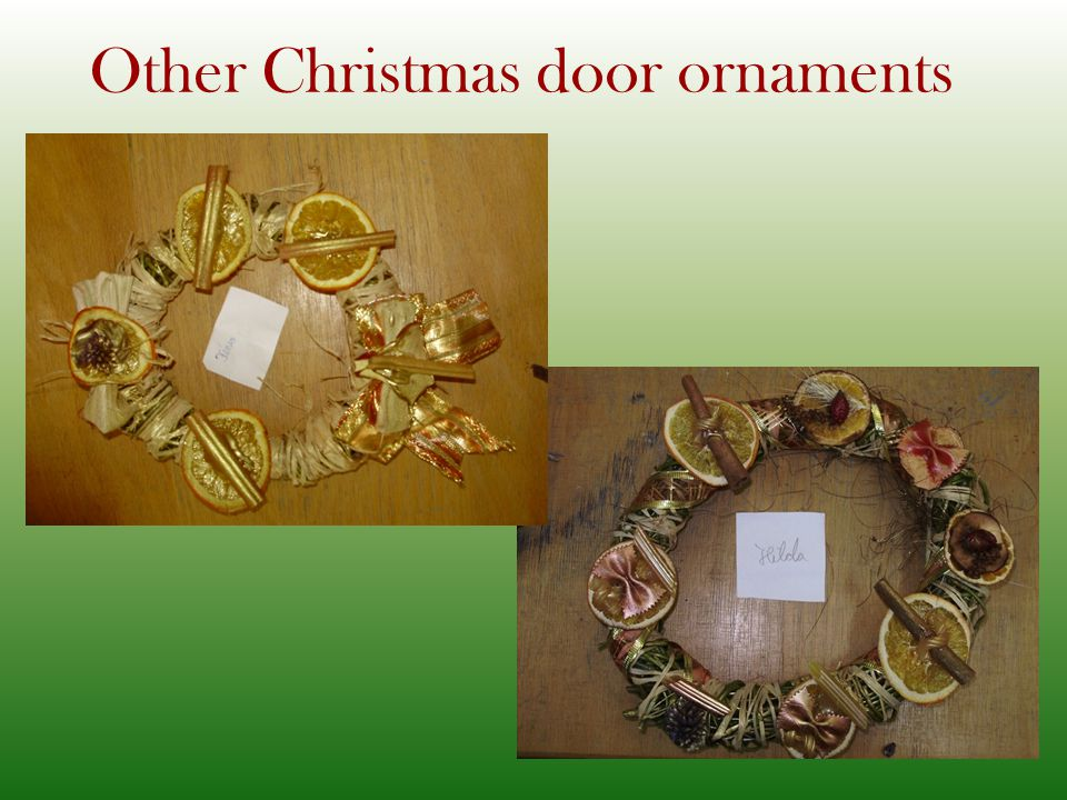 Other Christmas door ornaments