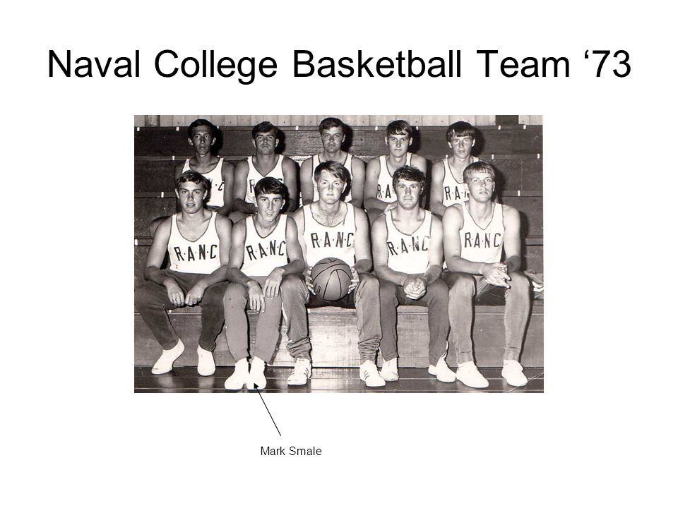 Naval College Basketball Team '73 Mark Smale