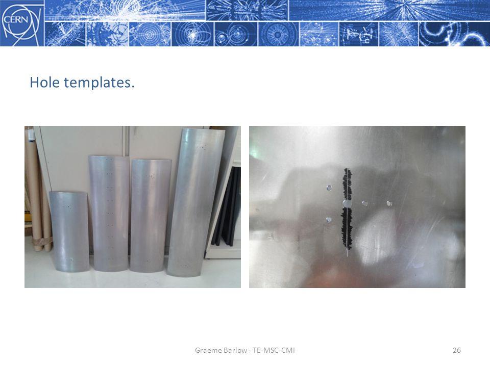 Hole templates. Graeme Barlow - TE-MSC-CMI26
