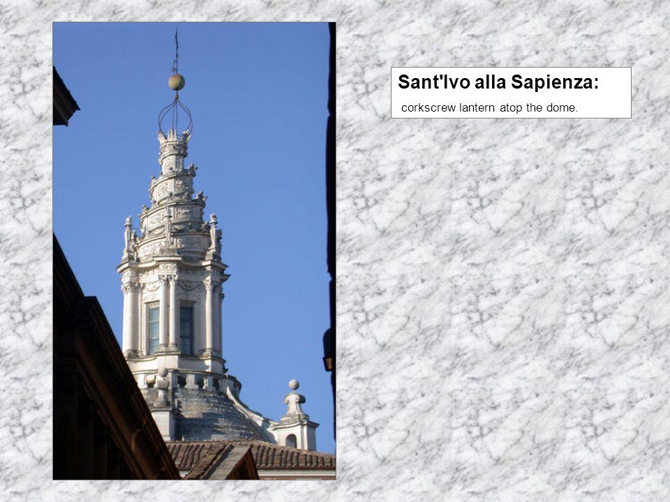 Sant Ivo alla Sapienza: corkscrew lantern atop the dome.
