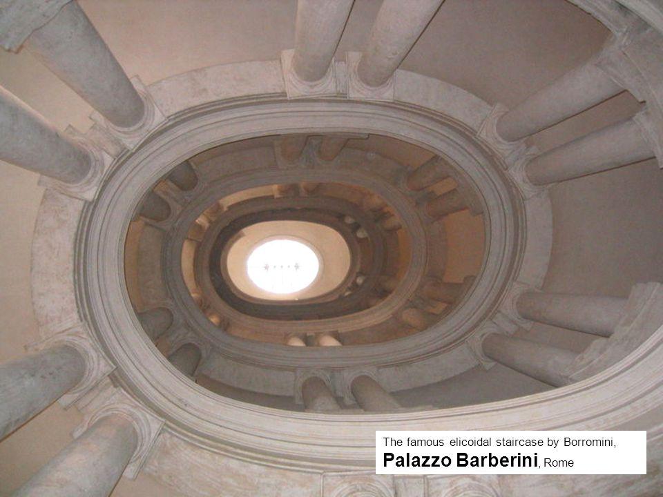 The famous elicoidal staircase by Borromini, Palazzo Barberini, Rome