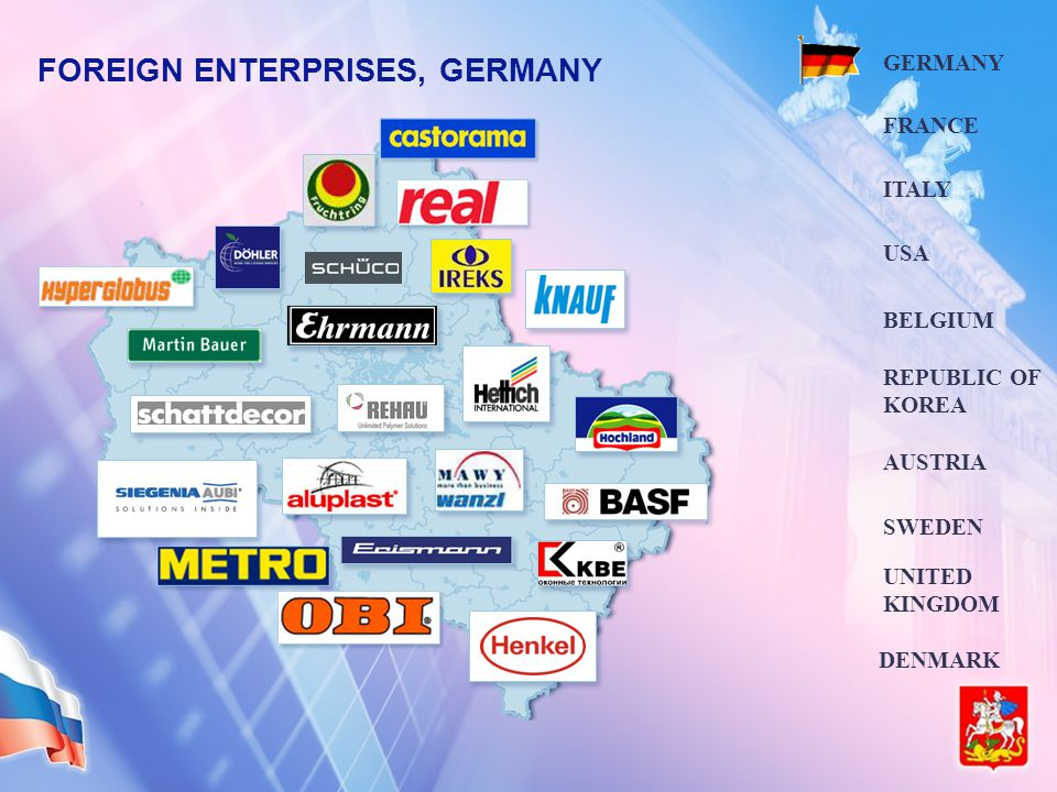 FOREIGN ENTERPRISES, GERMANY GERMANY FRANCE ITALY BELGIUM USA AUSTRIA DENMARK SWEDEN UNITED KINGDOM REPUBLIC OF KOREA