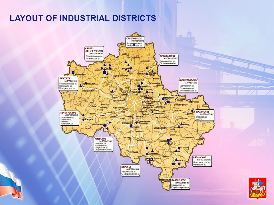 LAYOUT OF INDUSTRIAL DISTRICTS
