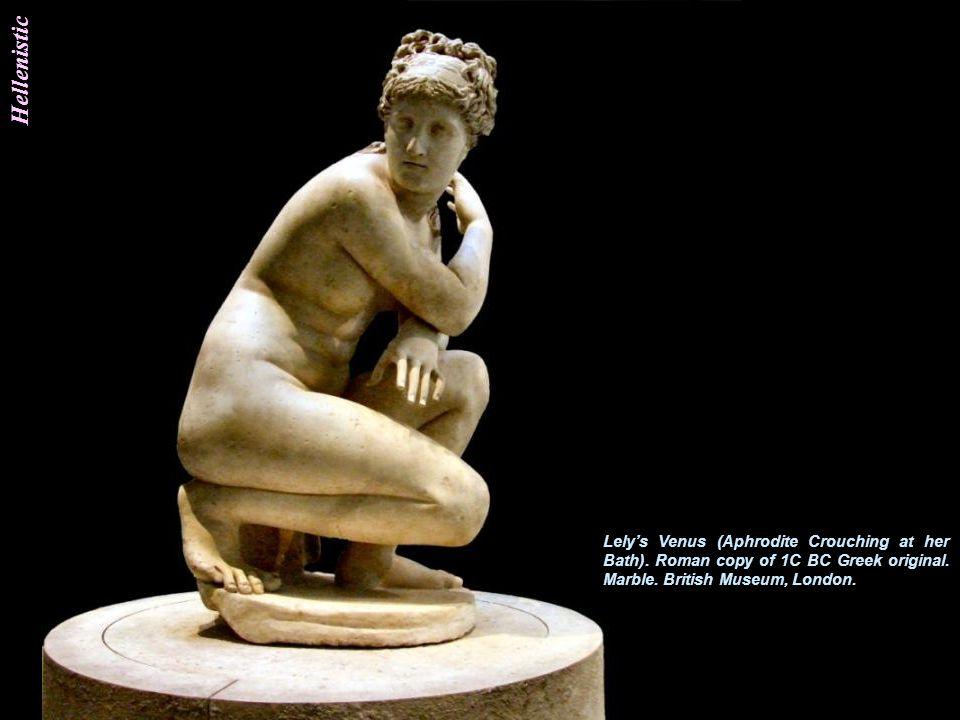 Hellenistic Venus de Milo. c120 BC. Marble. Height 2.02m. Alexandros of Antioch. Hellenistic. Greek. Musee du Louvre, Paris.