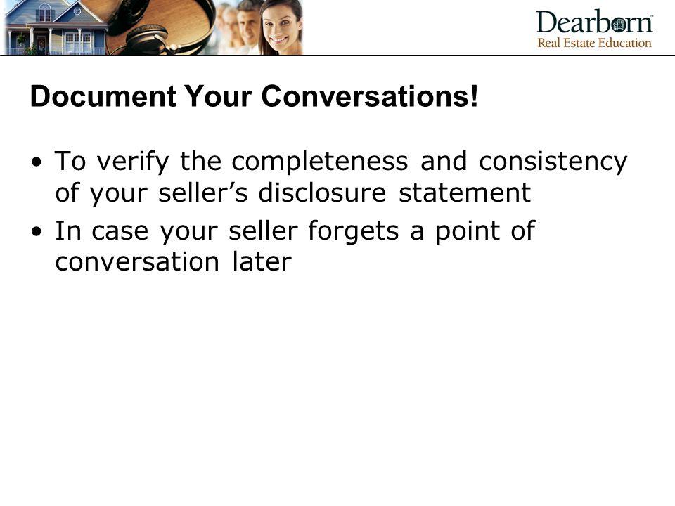 Document Your Conversations.