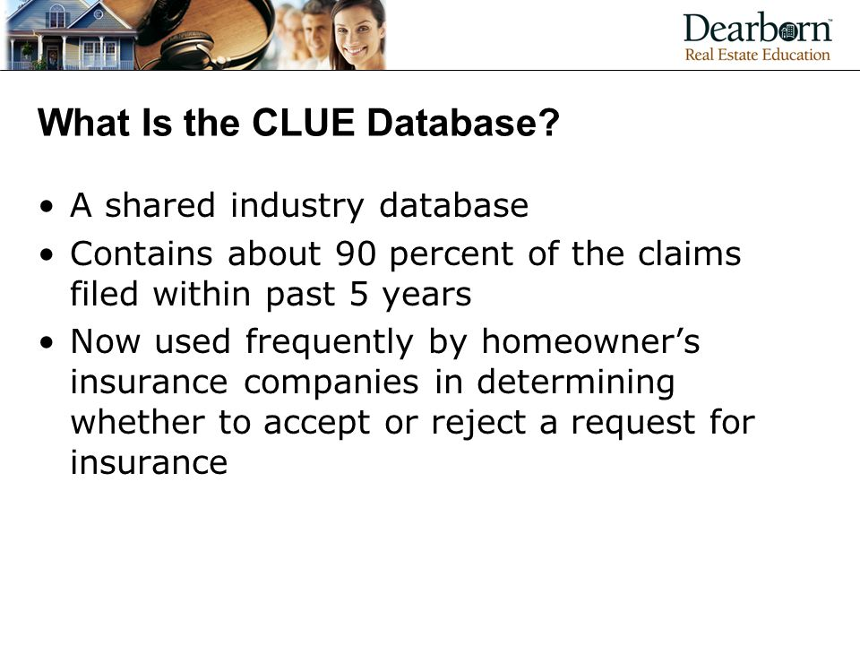 What Is the CLUE Database.