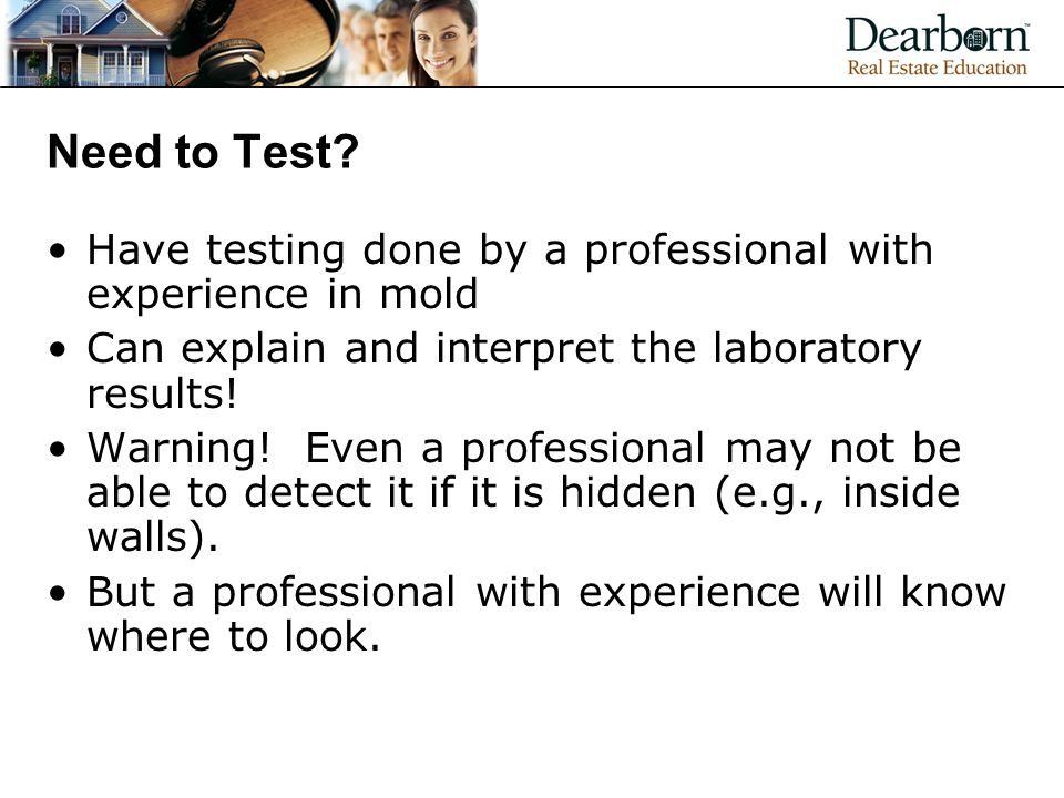 Need to Test.