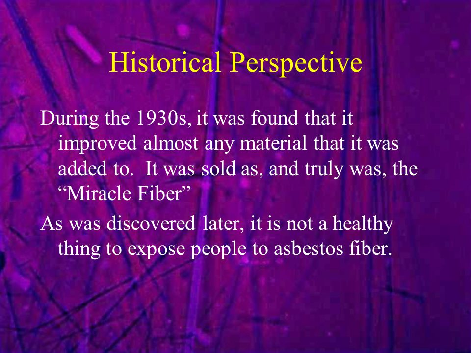 Historical Perspective During the 1930s, it was found that it improved almost any material that it was added to.