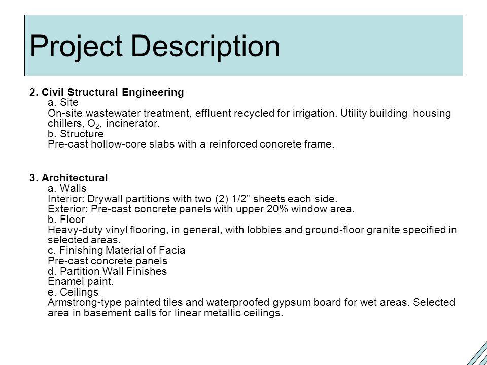 Project Description 2.Civil Structural Engineering a.