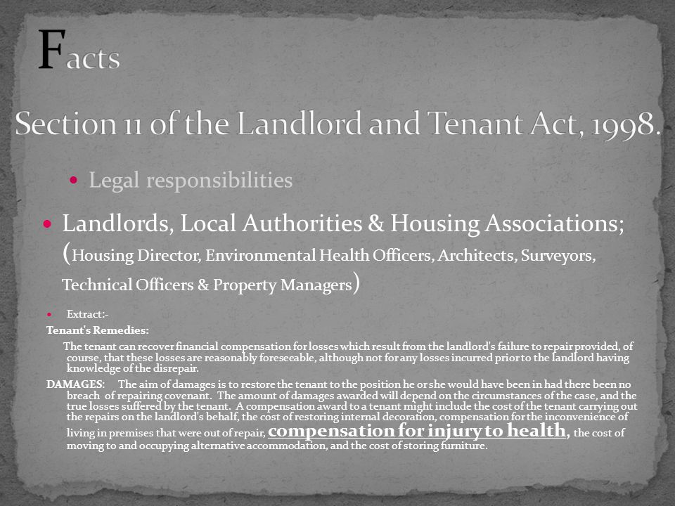 Landlords, Local Authorities & Housing Associations; ( Housing Director, Environmental Health Officers, Architects, Surveyors, Technical Officers & Pr