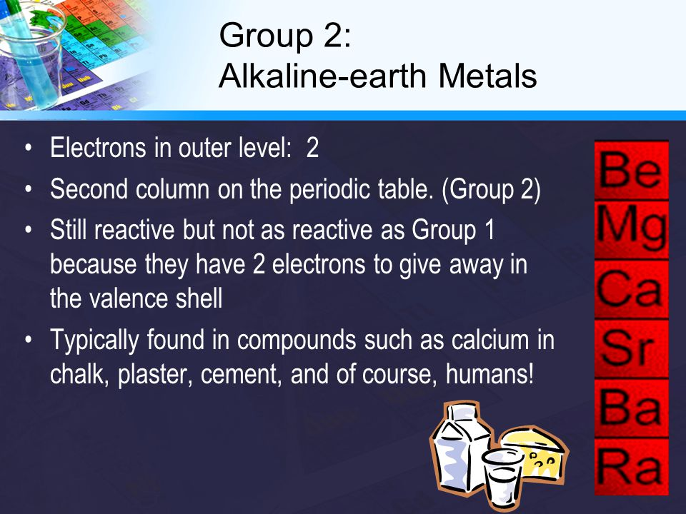 Groups 3-12: Transition Metals Properties vary widely The atoms of the transition metals do not give away their electrons as easily as in Groups 1 and 2 so they are less reactive.
