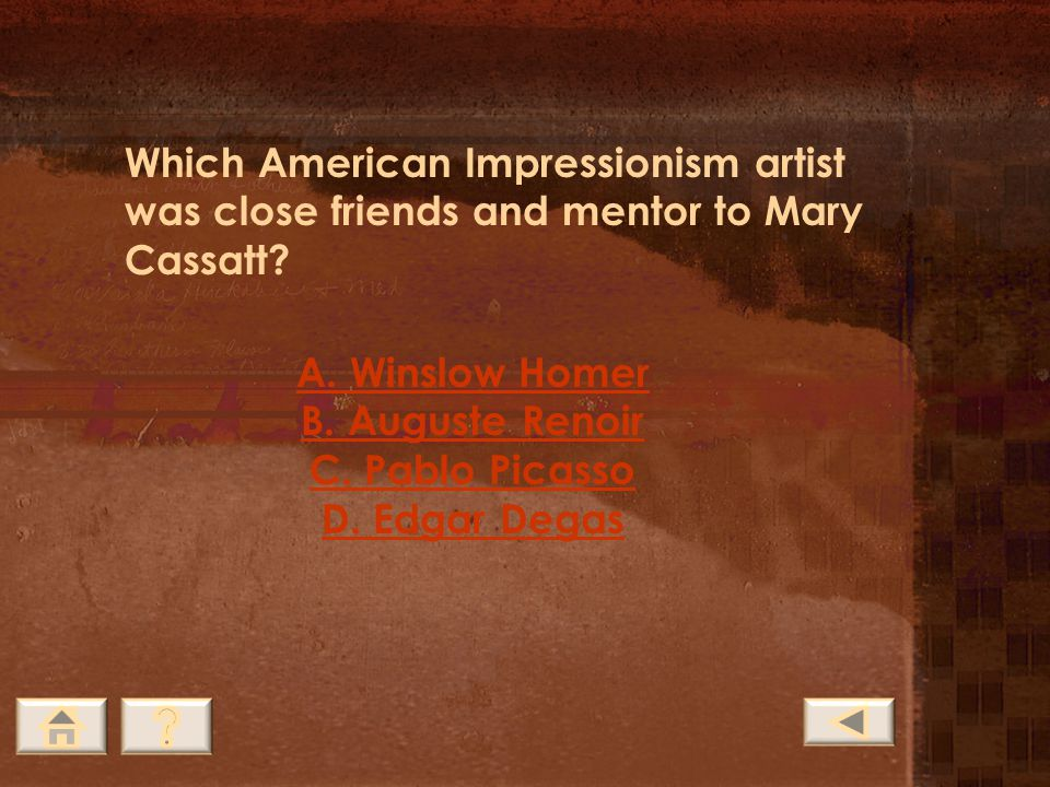 Hint: The majority of Cassatt's work was on this subject but she never had any of her own.