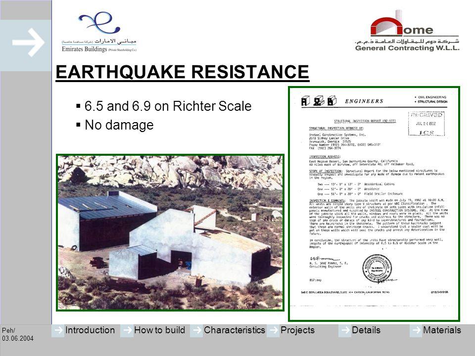 Peh/ 03.06.2004 IntroductionHow to buildCharacteristicsProjectsMaterialsDetails HURRICANE RESISTANCE  Habitat for Humanity, Florida  Hurricane Andrew (September 1992)