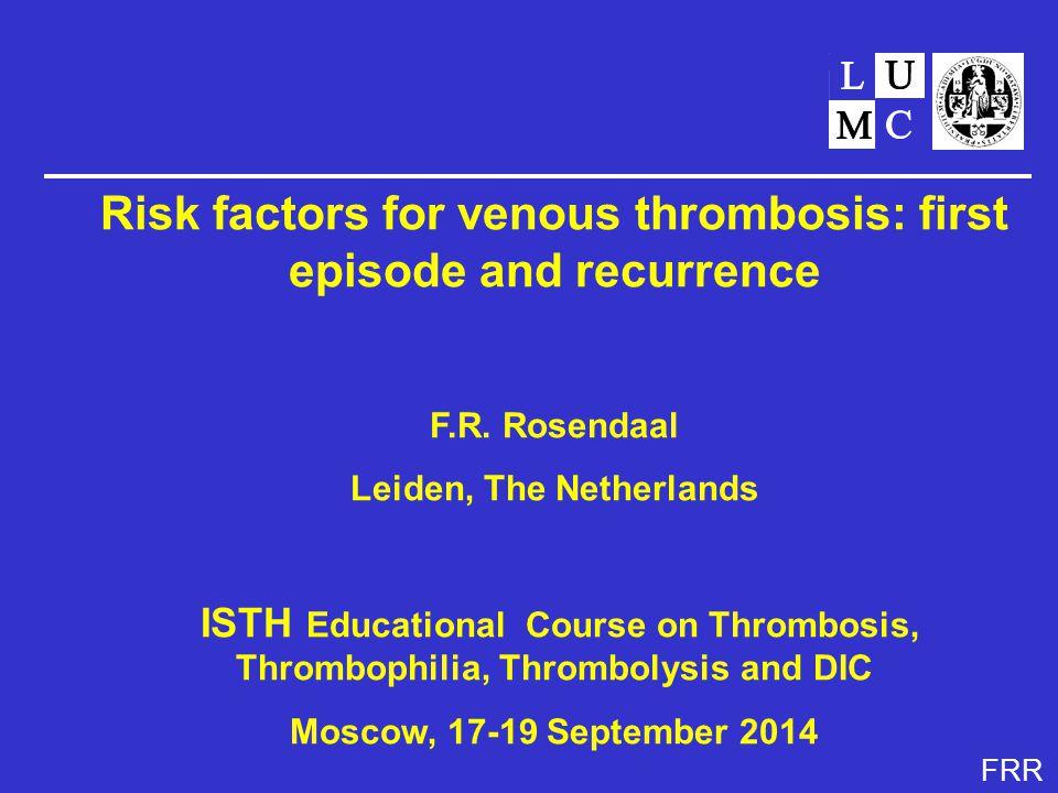 FRR Deep vein thrombosis and pulmonary embolism