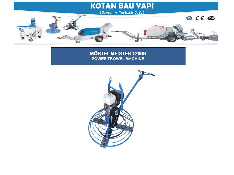 KOTAN BAU YAPI (German + Turkish J.V.) MÖRTEL ME İ STER 1200B POWER TROWEL MACHINE