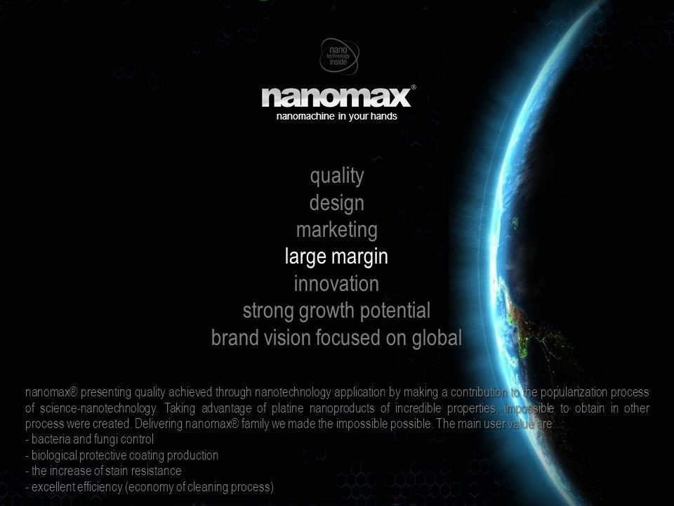 innovations 2015 2015 będzie najważniejszym rokiem w istnieniu zarówno marki nanomax ® jak i firmy, która go tworzy.