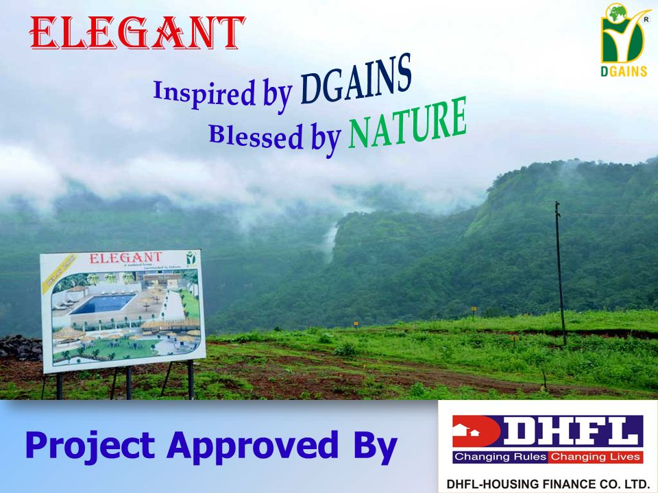 Elegant a project blended with nature's beauty, peace and tranquility.