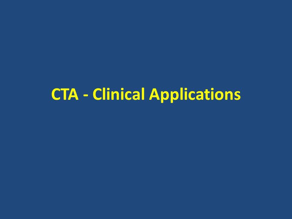 CTA - Clinical Applications